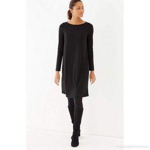 J. Jill Black Long Sleeve Scoop Neck Dress